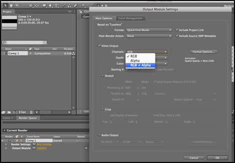 How To Export a Transparent Movie from After Effects